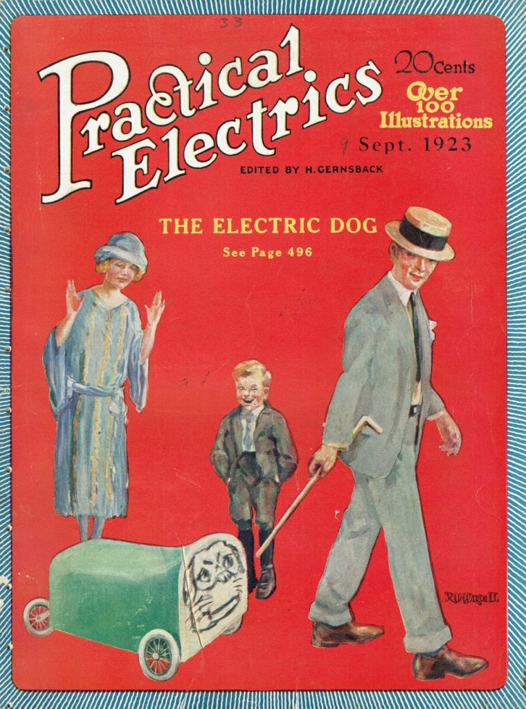 1923 electric dog | From the blog of Nicholas C. Rossis, author of science fiction, the Pearseus epic fantasy series and children's books