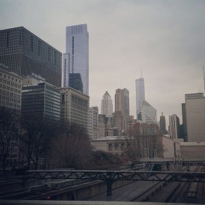 Downtown Chicago, taken from the park