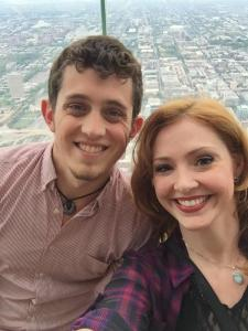 Julie Trammel and I at the top of Willis Tower in Chicago