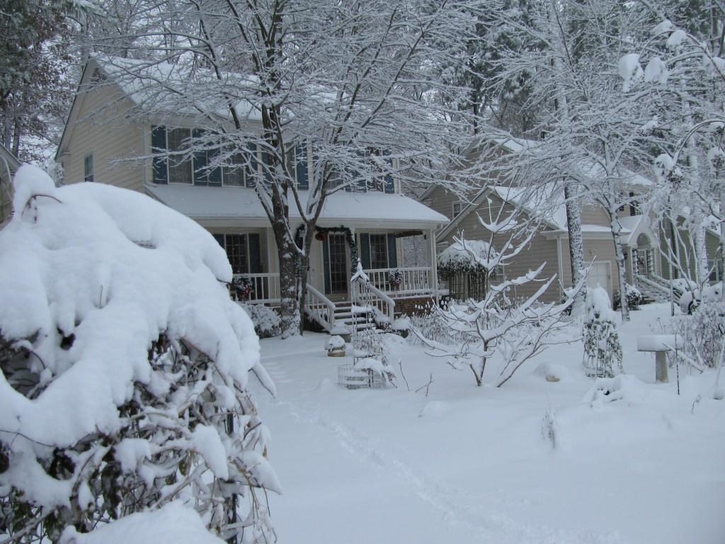 North Carolina Christmas Snow 2010 NicholsNotes
