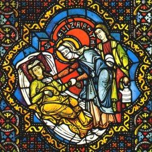 Glasfenster in der Elisabethkirche