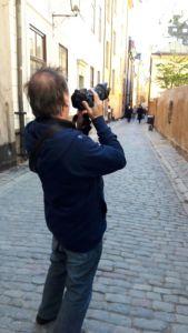 Horst fotografiert Stockholm