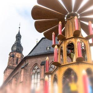 Heidelberger Weihnachtsmarkt. #heidelberg #weihnachtsmarkt #pyramide #heiliggeistkirche