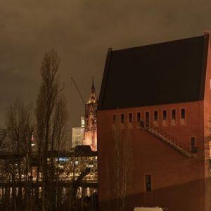 Frankfurt am Abend. #literaturhaus #dom #frankfurt #skyline