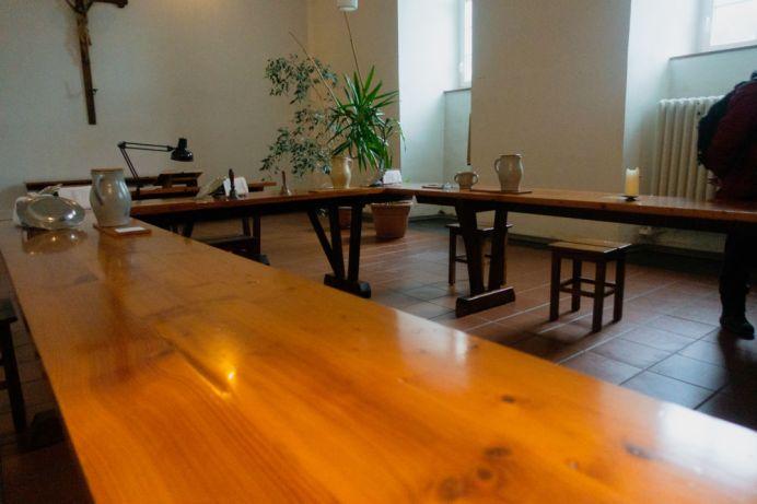 Der Speisesaal der Mönche