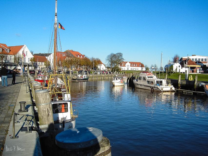Historischer Hafen in Tönning