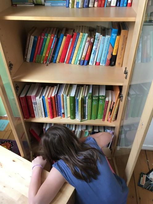 Bücher neu eingeräumt.