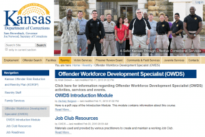 Offender Workforce Development Specialist OWDS  National Institute of Corrections