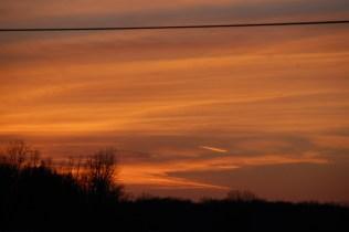 sunset sky 2 March 2014
