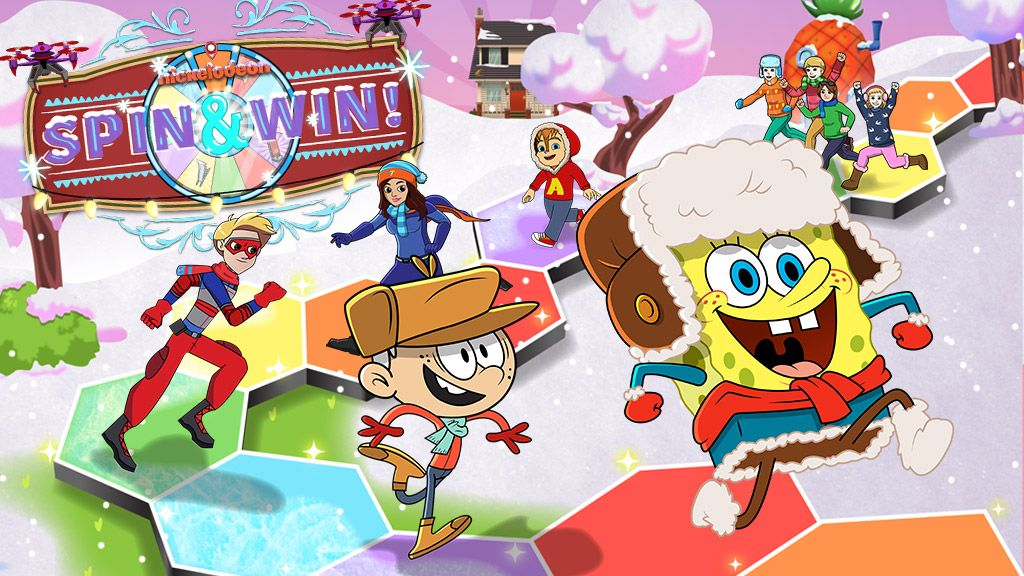 Nickelodeon Winter Spin  Win Strategy Game