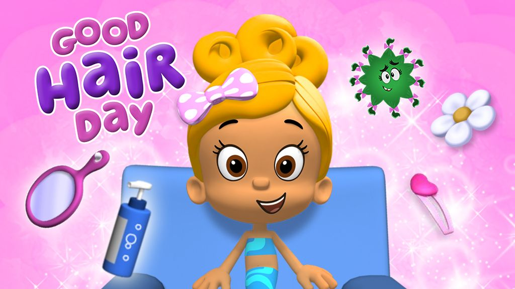 Guppies Good Hair Day Game Preschool Dress Up Game