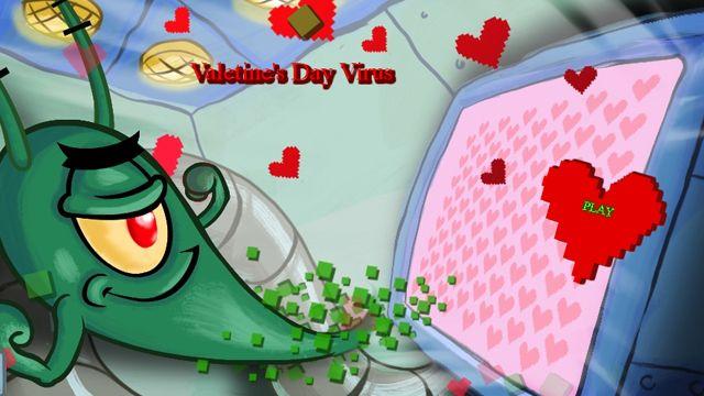 SpongeBob SquarePants  Plankton Valentines Day Virus