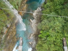 Bird's eye view from the awesome suspension bridge.
