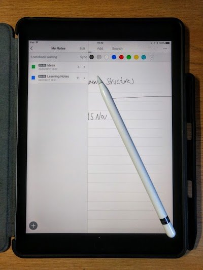 handwriting on the ipad pro  nick blackbourn phd