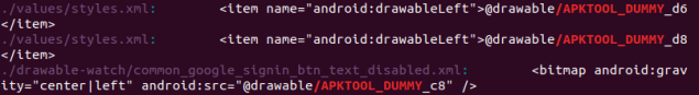 Dummy Android resource references.