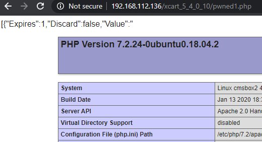 PHP Script Successfully Uploaded to X-Cart via Unsafe Pre-Auth Cookie Deserialization