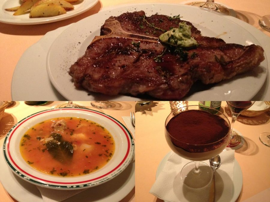 Fischsuppe, T-Bone Steak, Tiramisù @ Da Silvio, Lübbecke