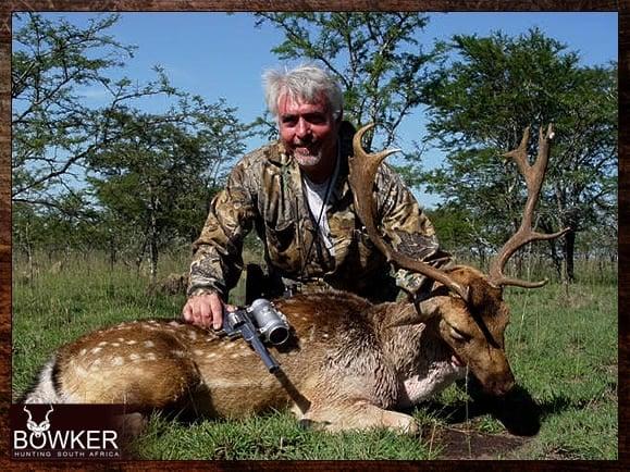 Fallow Deer trophy shot with a hand gun.