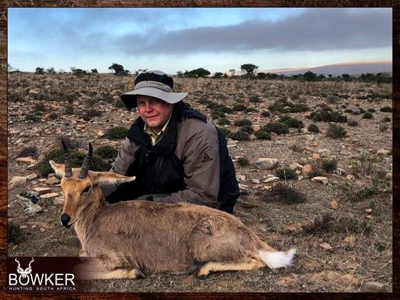 Mountain Reedbuck shot in South Africa.