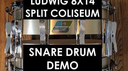 nick costa music nick costa drums ludwig 8X14 split coliseum snare drum demo