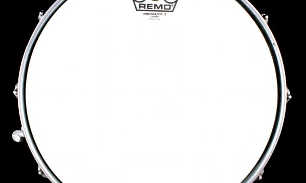 1980s Ludwig Supraphonic Vintage Snare Drum Blue Olive Badge 5X14