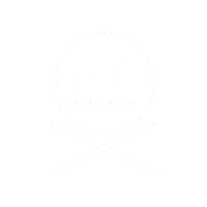 NC LOGO White Nick Costa Music Nick Costa Drums