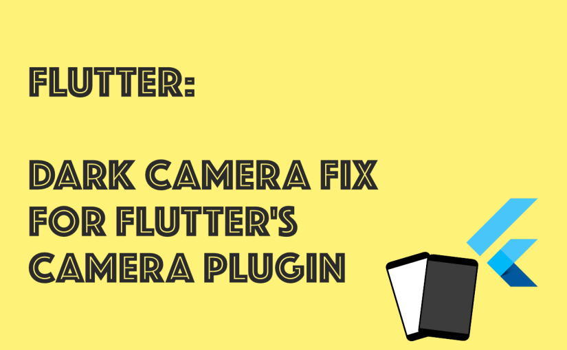 Flutter Dark Camera Fix Banner