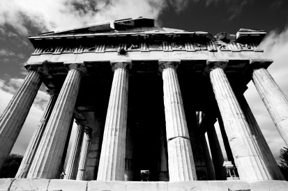 Mono front colonnade of Temple of Hephaistos