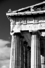 Mono marble columns and pediment of Parthenon