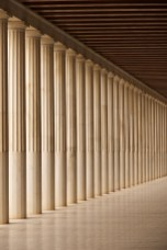 Stoa of Attalos Doric colonnade and ceiling