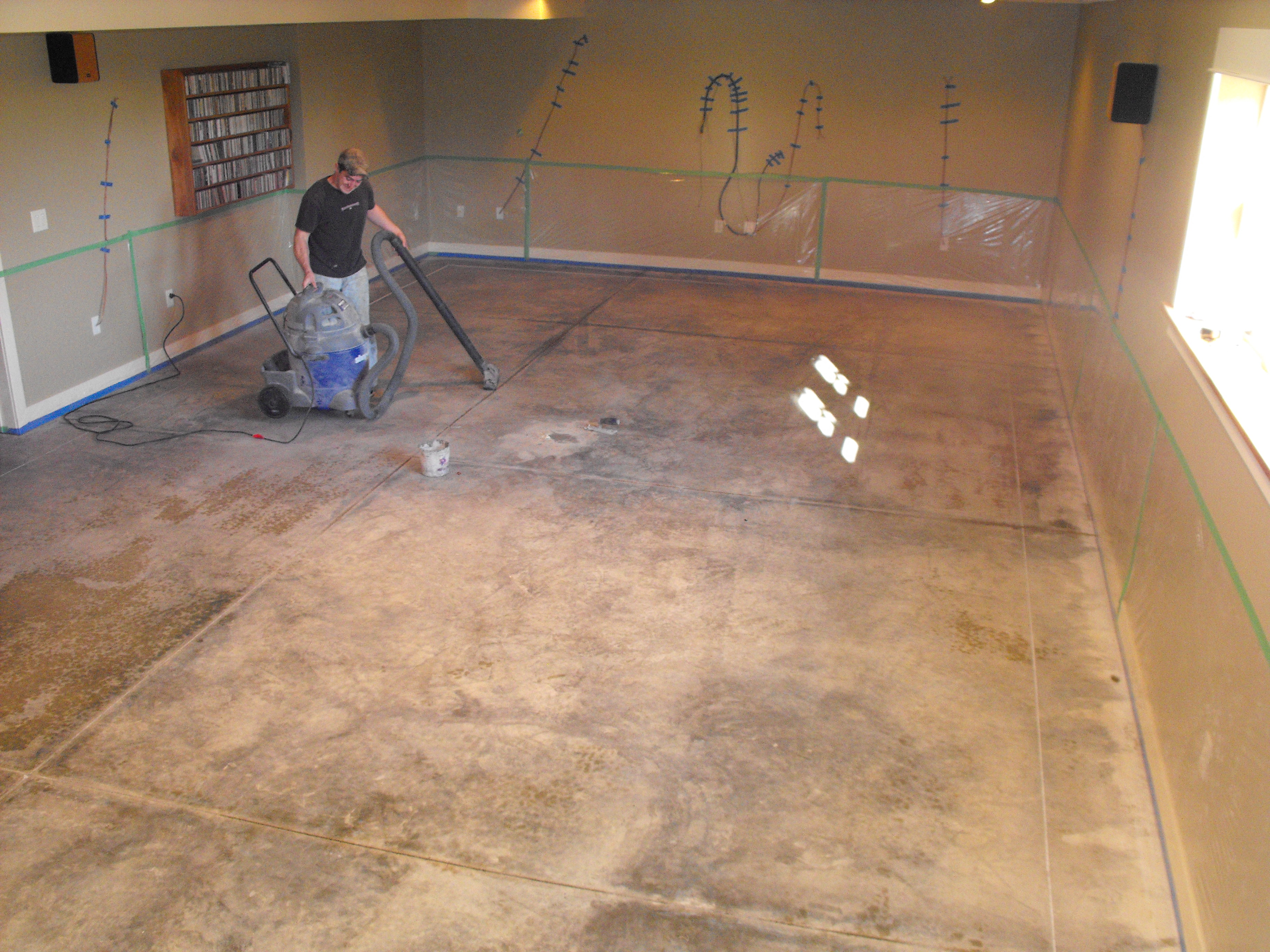 Resurfaced Stained Concrete Floor by Nick Dancer Concrete