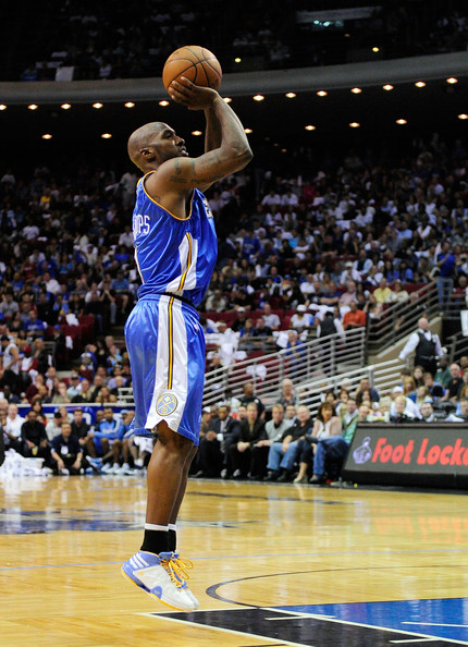 "Chauncey Billups adidas TS Lightning Creator Player Exclusive ""Mr. Big Shot"" Denver Nuggets home colorway."