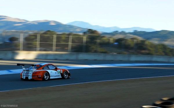 Porsche 911 GT3 R Hybrid at American Le Mans Series at Laguna Seca 2011