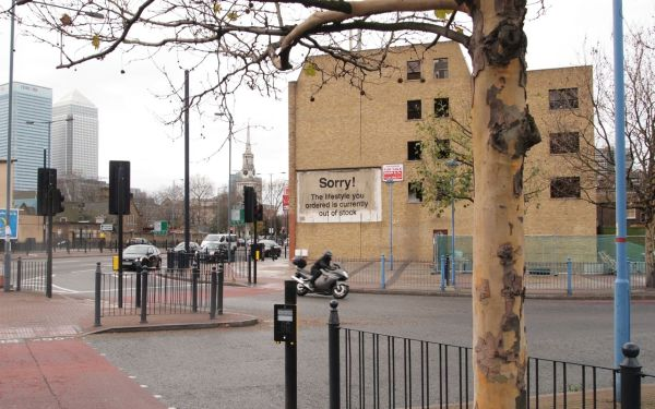 Banksy In Poplar, London. Sorry! The lifestyle you ordered is currently out of stock.