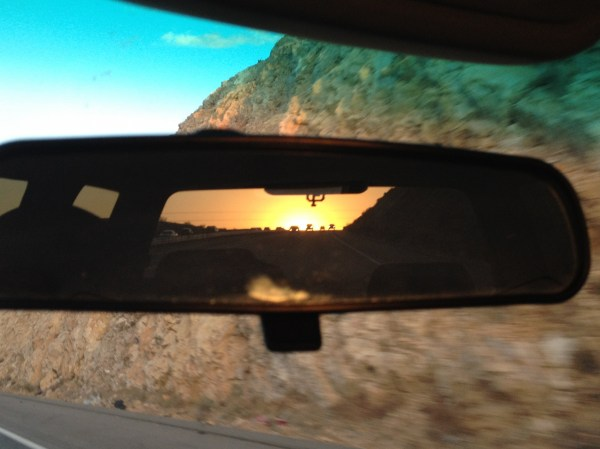 I'm seein' nothin' but my dreams comin' true while I'm staring at the world through my rearview.