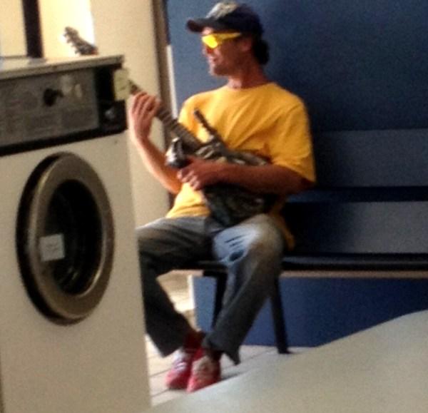 Laundromat rockstar.