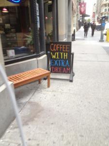 Coffee With Extra Dream, Showbiz Cafe, 21st Street, NYC