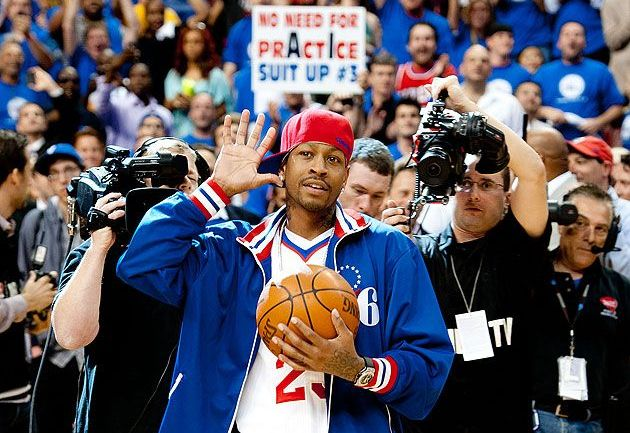 Allen Iverson by Jeff Fusco/Getty Images