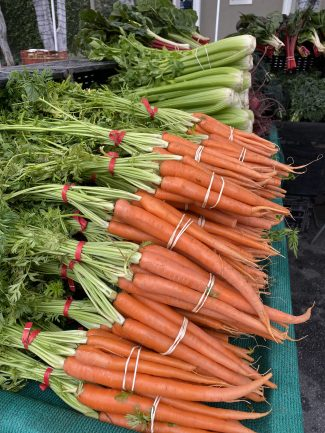 Carrots from San Luis Obispo, California.