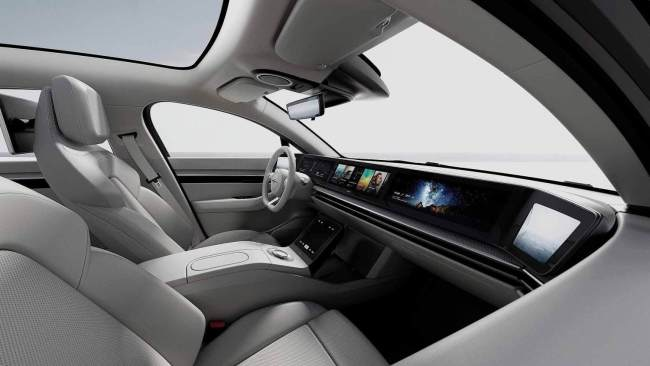 Sony Vision S Electric Concept Car Interior