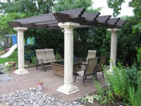 New Back Patio with Pergola - Nickett Landscaping