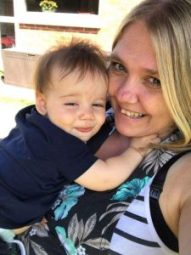 My eldest daughter and one of my grandsons