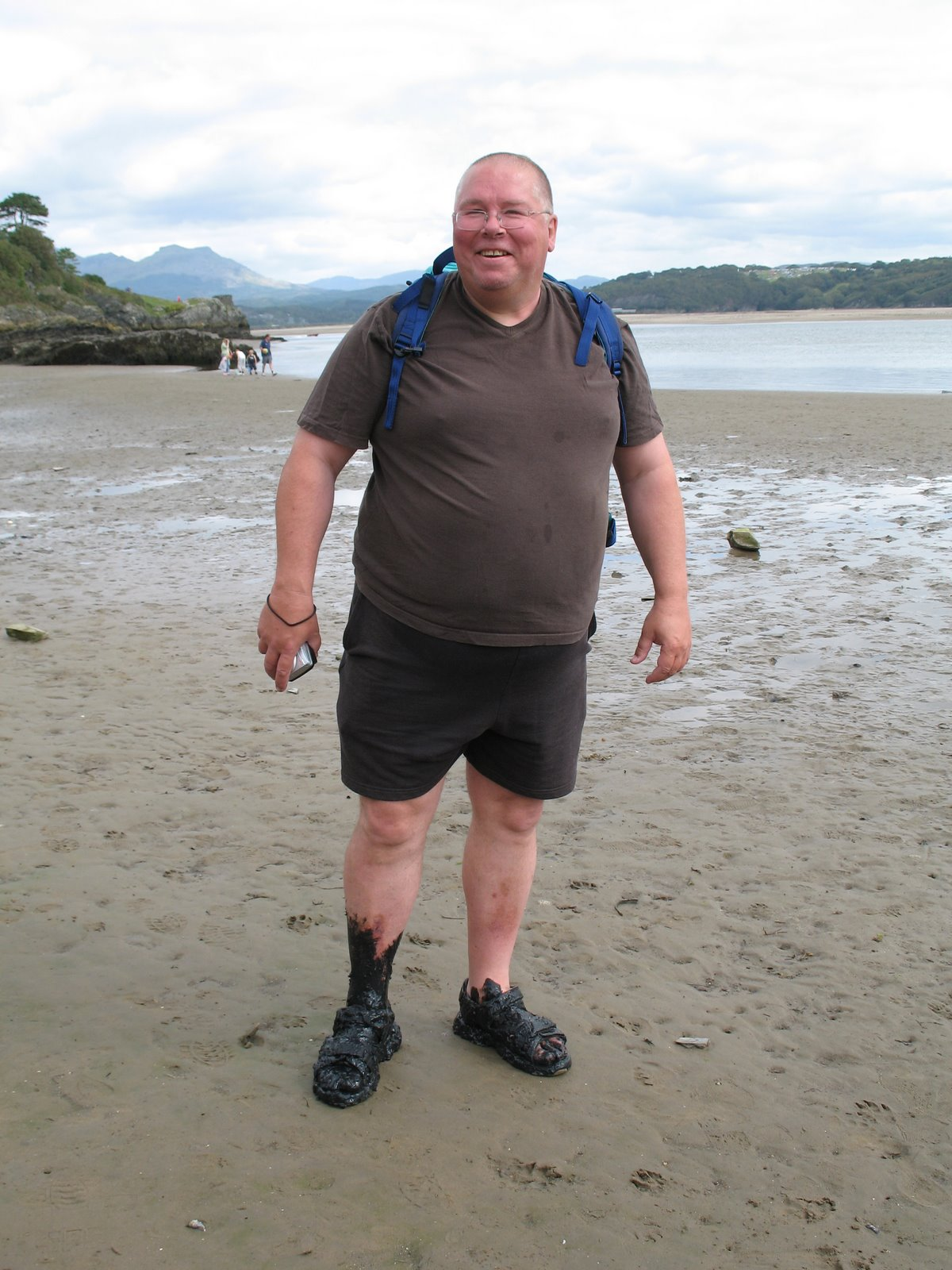 Nick on the beach near Porthmadog