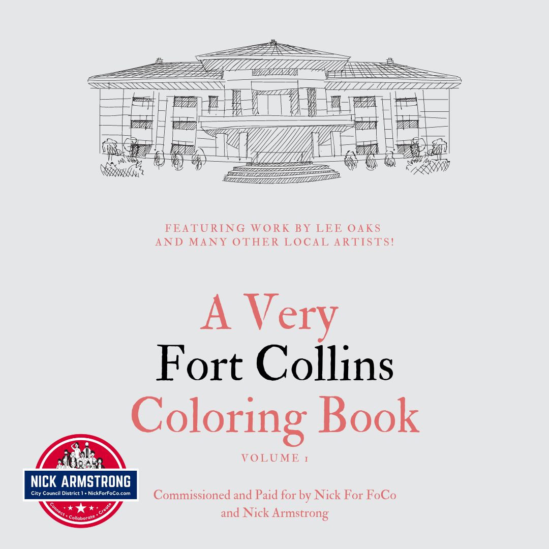 A Very Fort Collins Coloring Book