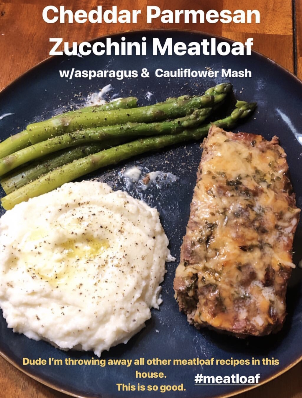 Keto Cheddar Parmesan Zucchini Meatloaf Low Carb Lean and Green Optivia
