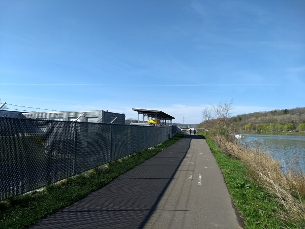 Cayuga Waterfront Trail near NYSDOT facility