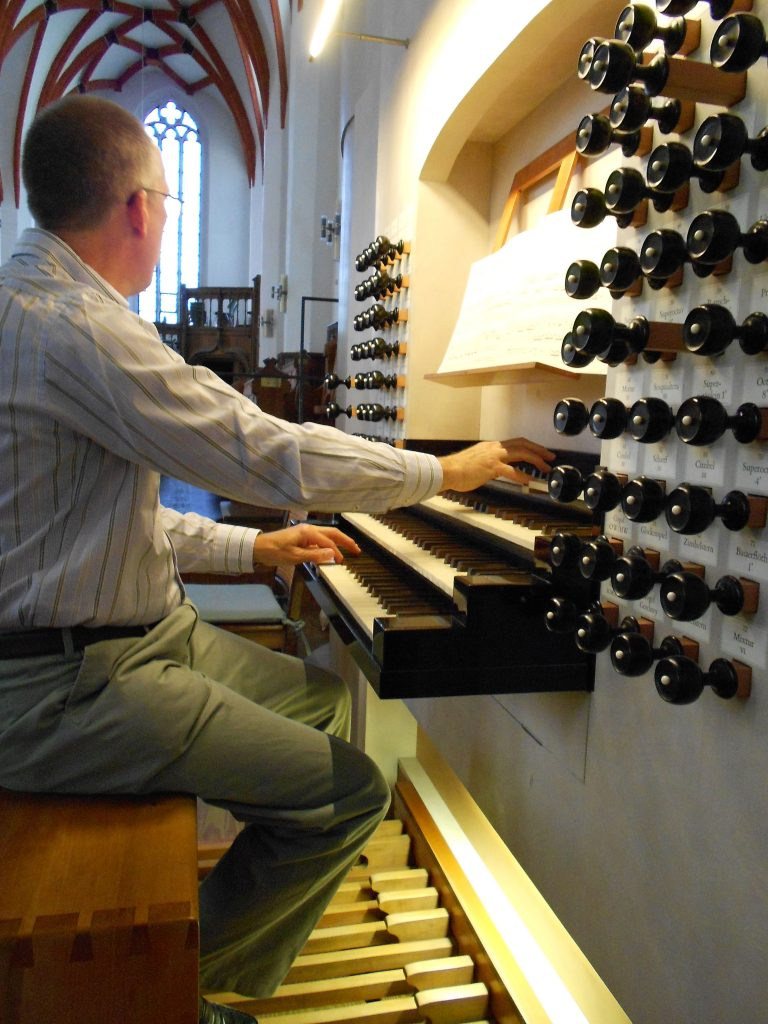Nick playing the Leipzig organ 2011