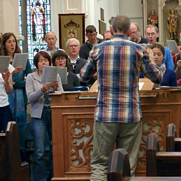 Nick Houghton conducting the Lewes Singers in rehearsal
