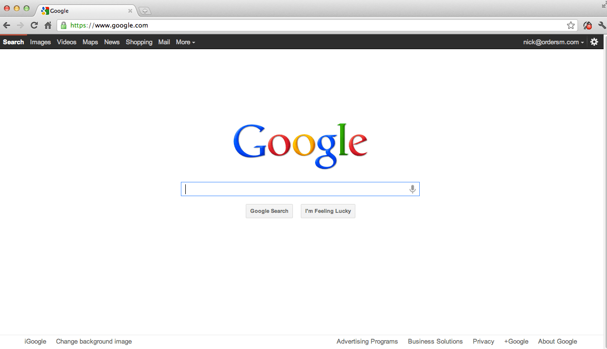 Heres Googles Homepage 1999 vs 2012 Can You Tell The