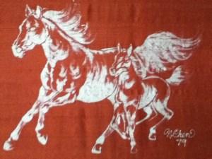 batik on silk by N. Chen
